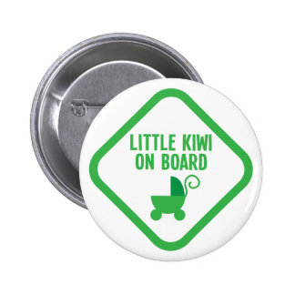 Little KIWI on Board New Zealand Button