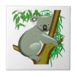 Little Koala Bear in a Gum Tree Tiles