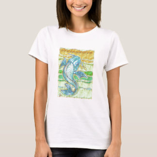Little Koi Blue T-Shirt