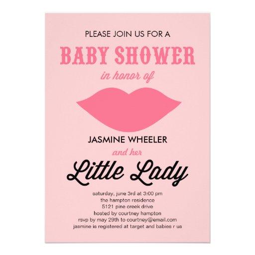 little lady baby shower invitations 5 x 7 invitation card zazzle