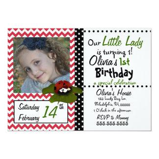 Little Lady Bug Invitation