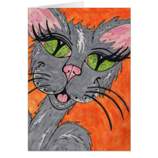 Little Lady Cat Card