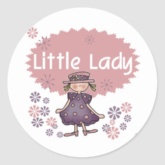 Little Lady Classic Round Sticker