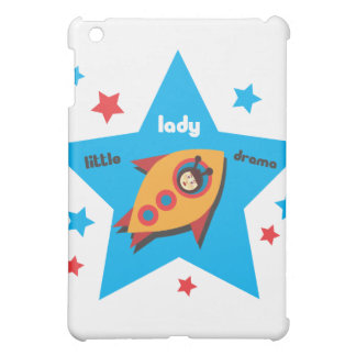 Little Lady Drama in a Rocket Speck iPad Case
