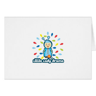 Little Lady Drama Summer Style Greeting Cards