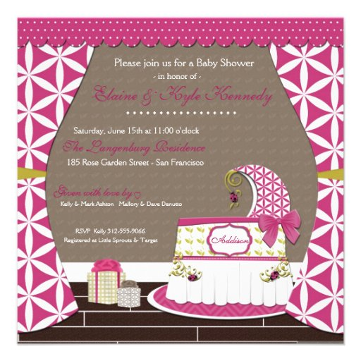 Little Lady Girl Couples Baby Shower Invitations (back side)
