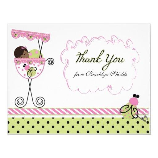 Little Lady Ladybug Theme Thank You Card