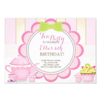 ladies tea party invitations  announcements  zazzle, Party invitations