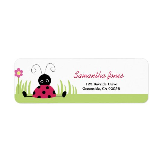 Little Ladybug Baby Shower Address Label