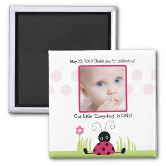 Little Ladybug Baby Shower / Birthday Favor Magnet