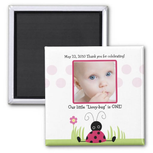 Little Ladybug Baby Shower / Birthday Favor Magnet
