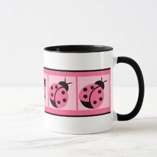 Little Ladybug Banded Coffee Mug