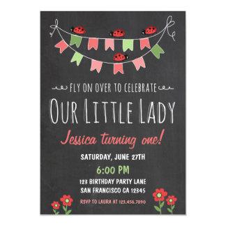 Little Ladybug Birthday Invitation
