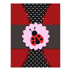 Little Ladybug Birthday Invitation for Kids 4.25
