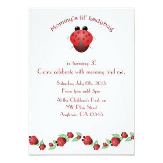 Little Ladybug Birthday Party Card