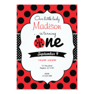 polka dot birthday invitations zazzle