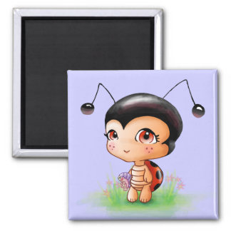 Little Ladybug Girl Magnet