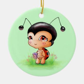 Little Ladybug Girl Ornament