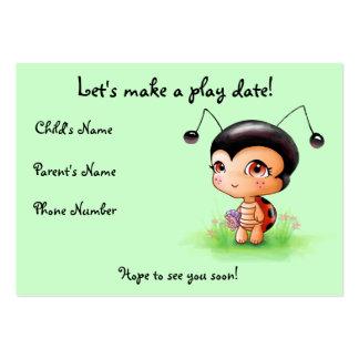 Little Ladybug Girl Play Date Card Business Card