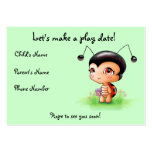 Little Ladybug Girl Play Date Card Large Business Cards (Pack Of 100)
