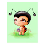 Little Ladybug Girl Postcard