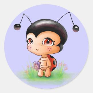 Little Ladybug Girl Sticker