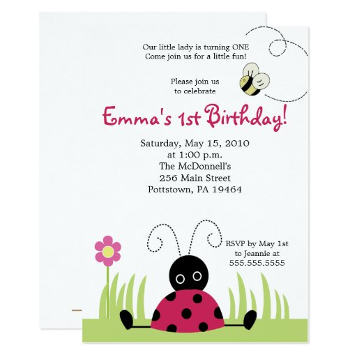 Little Ladybug Invite - Upated Link in Description