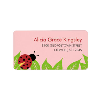 Little Ladybug Kids Address Label Address Label