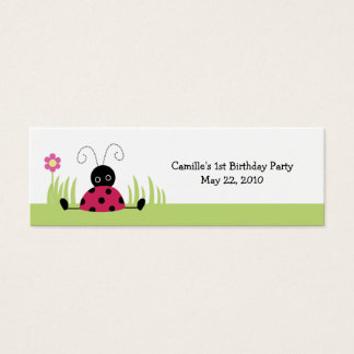 Little Ladybug Personalized favor tags