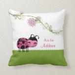 Little Ladybug Personalized Girls Pillow
