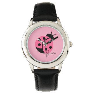 """Little Ladybug"" Personalized girl's watch"