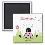 Little Ladybug (Pink) Baby Shower Favor Magnet