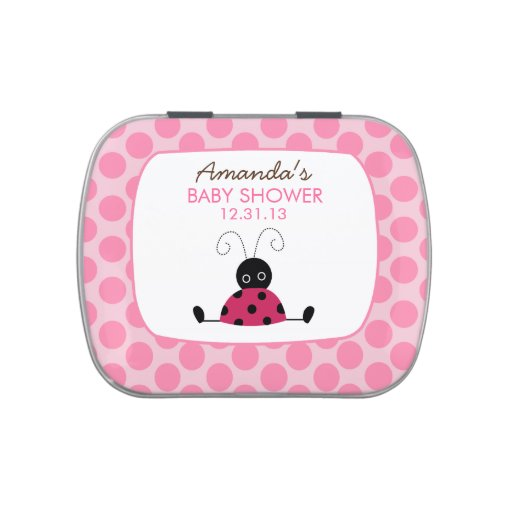 Little Ladybug Pink Dot Candy Tin Favor