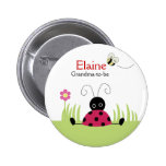 Little Ladybug Red NAME TAG Personalized Button