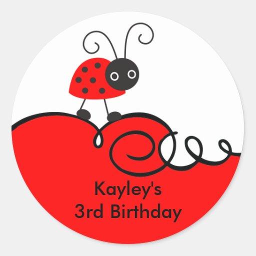 Little Ladybug Stickers Stickers