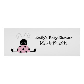 LITTLE LADYBUGS Baby Shower /  Birthday Banner Poster