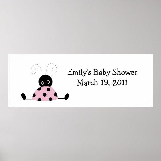 LITTLE LADYBUGS Baby Shower /  Birthday Banner Print