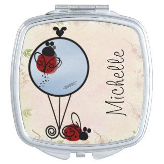 Little Ladybugs on Mirror Compact Mirrors