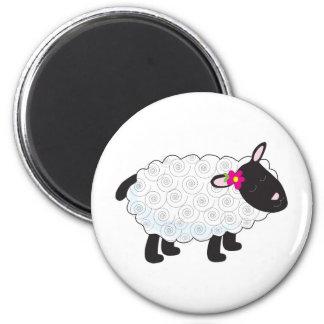Little Lamb 2 Inch Round Magnet