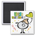 Little Lamb 5th Birthday Gifts Magnet