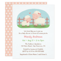 Little Lamb and Mommy Farm Baby Shower Invitation