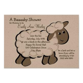 Little Lamb Baby Shower Card