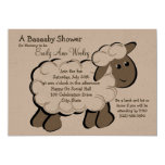 Little Lamb Baby Shower Custom Announcements