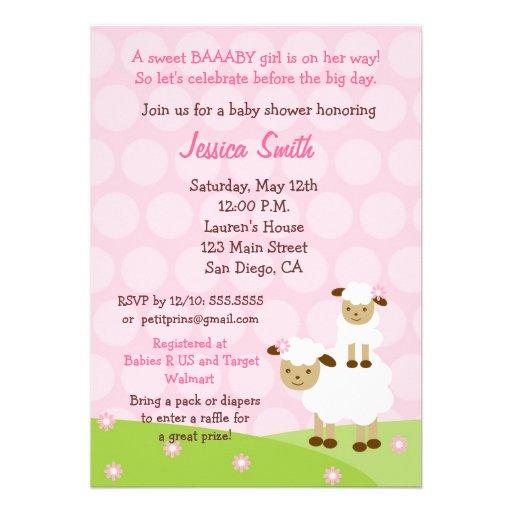 Little Lamb Baby Shower Invitation