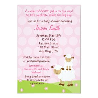 Nice Little Lamb Baby Shower Invitation