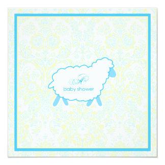 Little Lamb Baby Shower Invitation | Blue