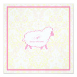 Little Lamb Baby Shower Invitation | Pink