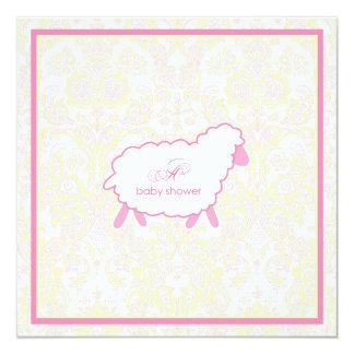 Little Lamb Baby Shower Invitation | Pink