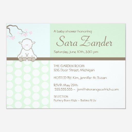 Custom little lamb baby shower invitation invites templates little lamb baby shower invitations filmwisefo Choice Image
