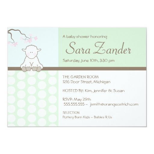 little lamb baby shower invitations zazzle